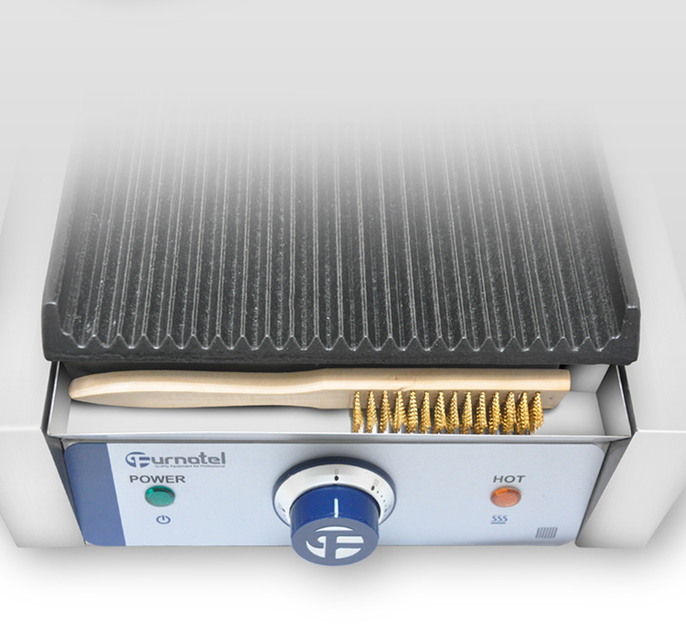 Discover Our Snacking Concept /Breakfast Sandwich Maker Contact Grill Machine /Iron Grooved Plate FSEPG-0403