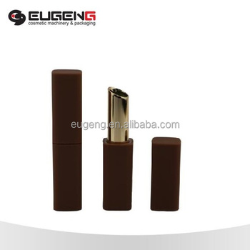 custom your brand classic design magnetic square slim lipstick tube