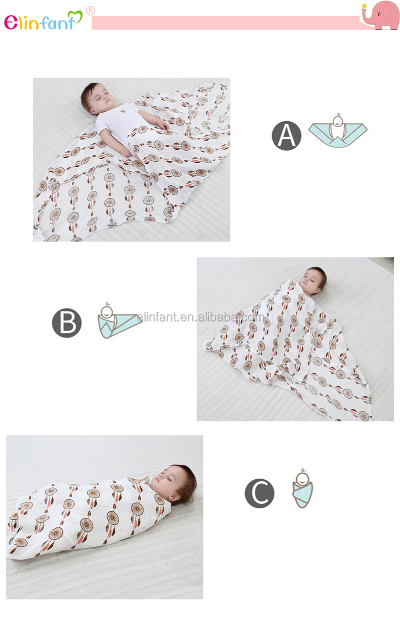 2019 new design Free shipping Elinfant soft 2 layers baby 담요 싸는 담요