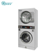 Tokens coin washing drying machine laundry coin operated stack washer dryer commercial