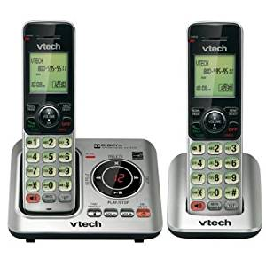 Vtech CS6629-2 DECT 6.0 1.90 GHz Cordless Phone - Silver VTCS6629-2
