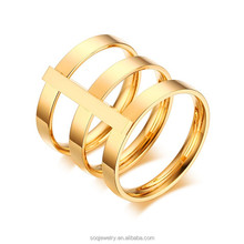 IP gold plating about the etemity band love steel ring Jewelry for Ladies
