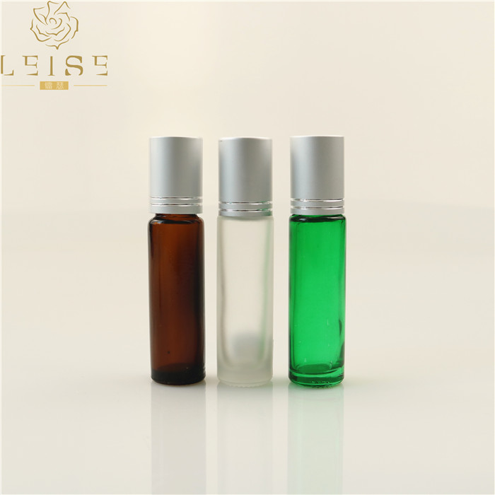 2ml 3ml 5ml tiny glass essential oil roller bottle 10ml roll-on perfume bottle 15 ml amber glass roll on bottle hot selling