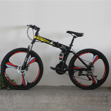 OEM Design Carbon Steel 21 Speeds Folding Mountain bike 26 Inches Double Disc Brake MTB Bicycle