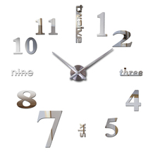 2016 hot new Quartz font b clocks b font fashion watches 3d real big wall font