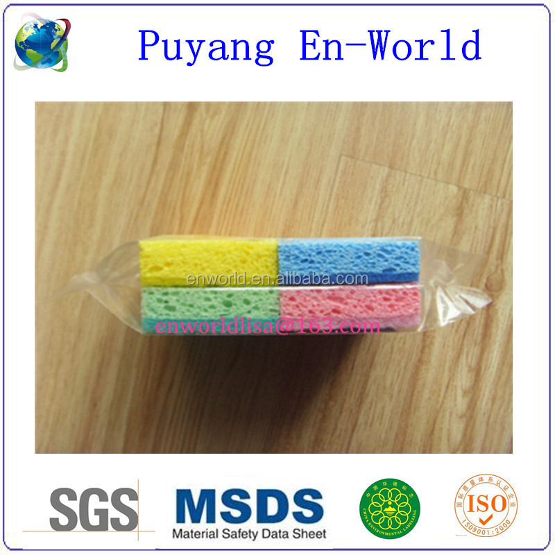natural compressed expanding cellulose sponge for kitchen cleaning