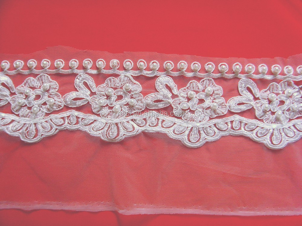 Thin Saree Border Lace Trim For Bridal Belt Decoration
