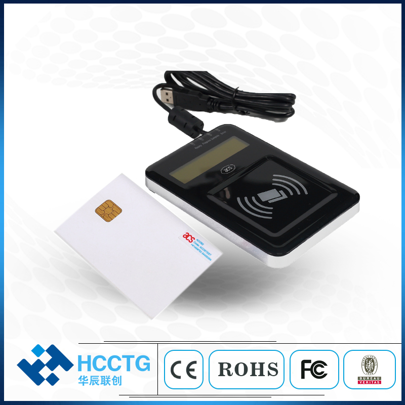 Visual Vantage rfid credit external nfc usb reader with LCD ACR1222L