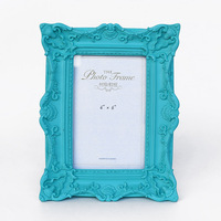 2016 best selling resin 6 inch wedding dress photo frame