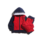 wholesale kids boutique infant 280g terry cloth baby clothing sets 2pcs with hooded