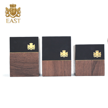 Hot Sale High End Custom wooden Materials Packaging Gift Box with logo relievo