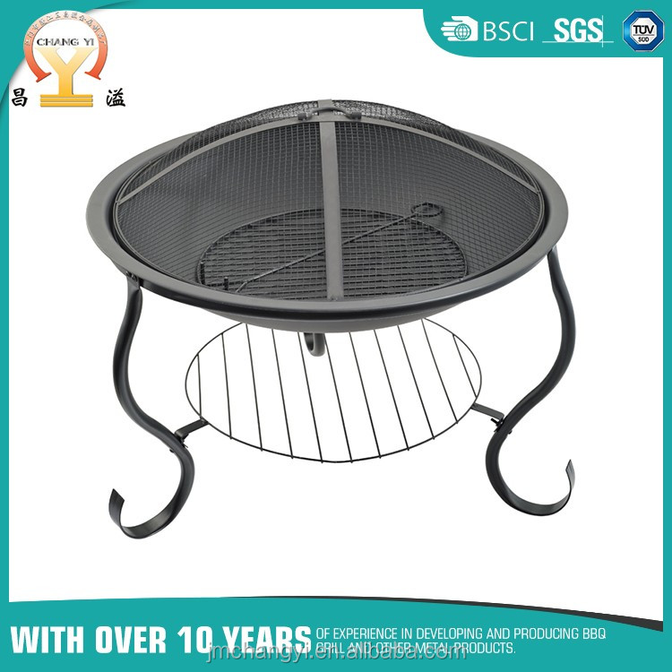 Stainless steel bbq chimney charcoal starter holder for bbq grill
