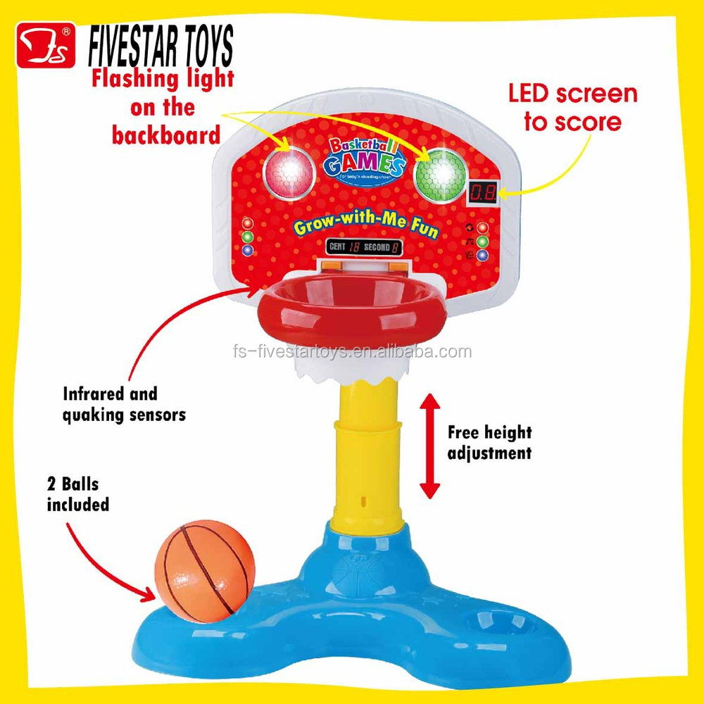 Baby Toys & Products-Baby basketball set/children basketball stand with lights and sounds basketball game toy
