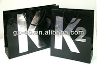 Paper bags with CMYK printing and silver foil