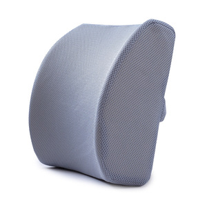 Reliable slow rebound memory foam lumbar support back massage cushion