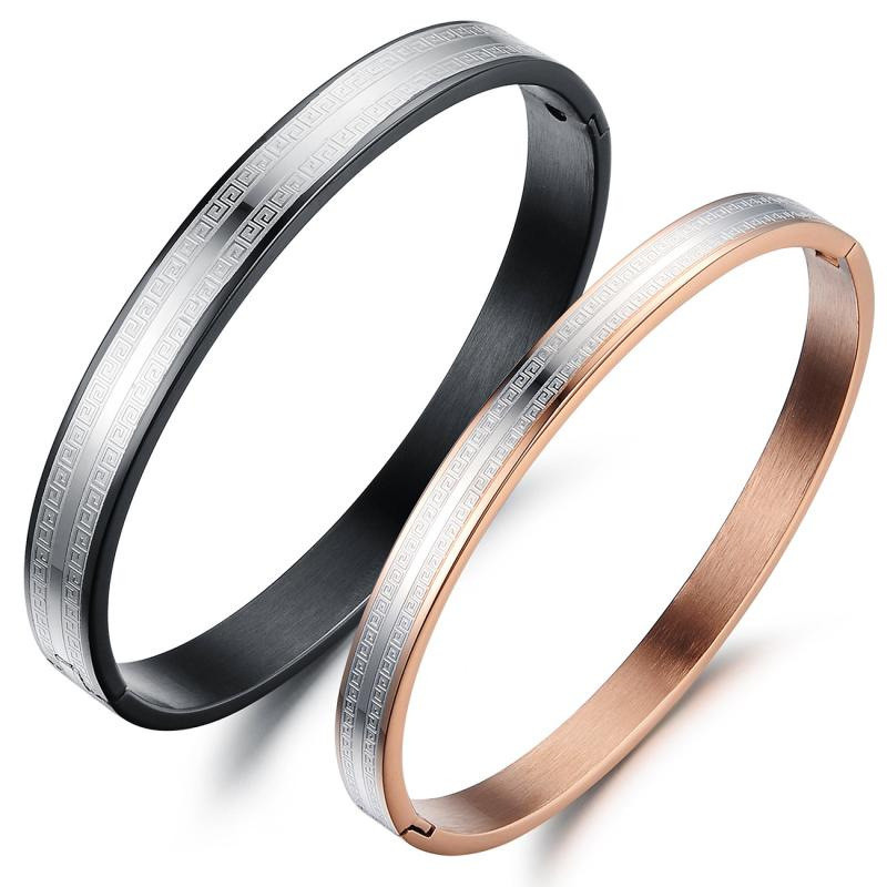 Lovers Titanium Stainless Steel Bangles Bracelets,Simple Fashion Women Man Bracelets bangles,Men Bangle Brazaletes,free shipping