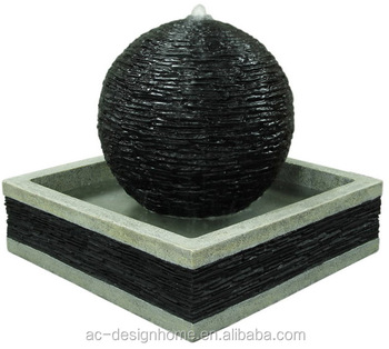 Polyresin Outdoor Fountain With Led Light Water Decorative