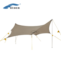 ODM Fashion Style Waterproof Camping Hammock Awning Tent Collapsible Tarp Big Shelter Adjustable Alloy Pole