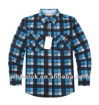 Flannel check fashionable garments mens long sleeve dual for Places to buy flannel shirts