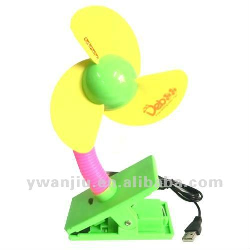 Supply fashion USB and battery baby carriages mini fan small order