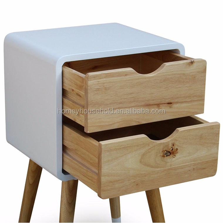 Modern Scandinavian Furniture Wooden Oak Legs Drawers Chest Cabinets