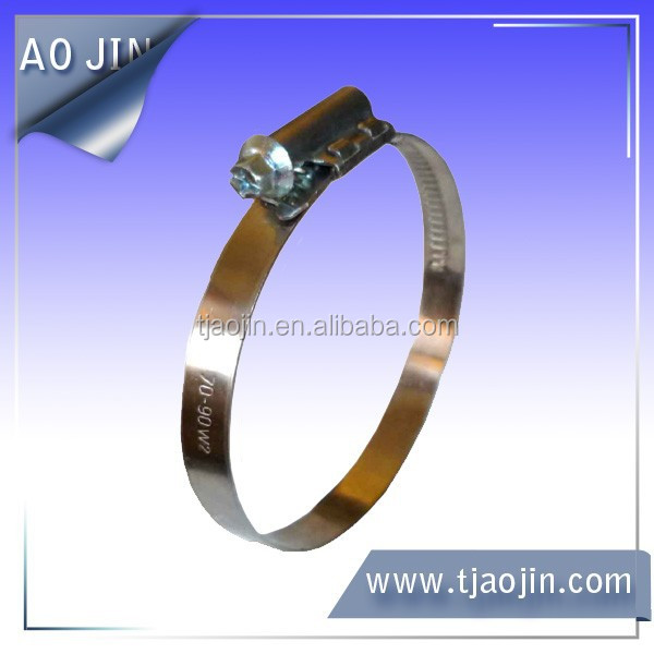 Hose Clamp Manufacturers China Bandwidth 9mm Worm Drive Tube Clamp ...