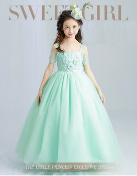 66acc107e Angel Harness puffy wedding dress flower net frock designs for kids baby  party dress picture online
