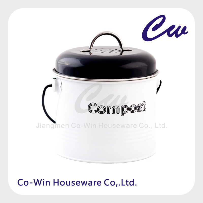 Mini Countertop Compost Pail;Kitchen Compost bin;Food waste Compost keeper, 0.76 gallon Capacity, Including Carbon filter