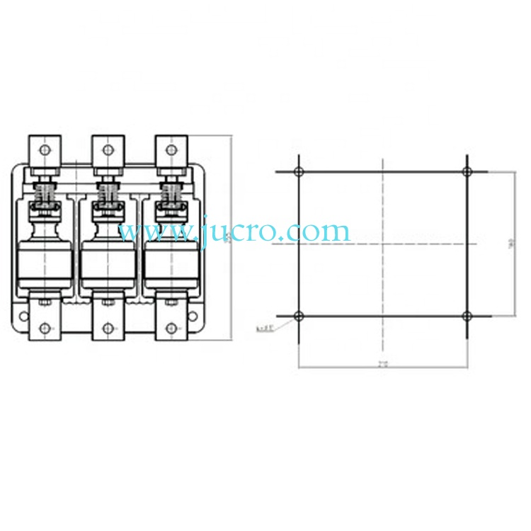 AC Vacuum Contactor HVJ20 2KV 630A for switchgear from JUCRO Electric
