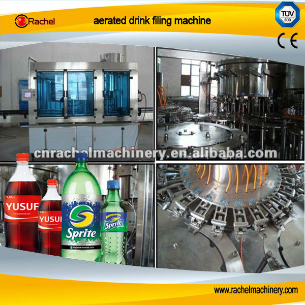 Aerated drink filling machine