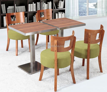 Guangzhou Modern Solid Wood Green Restaurant Table Chair Dining - Restaurant pub table and chairs