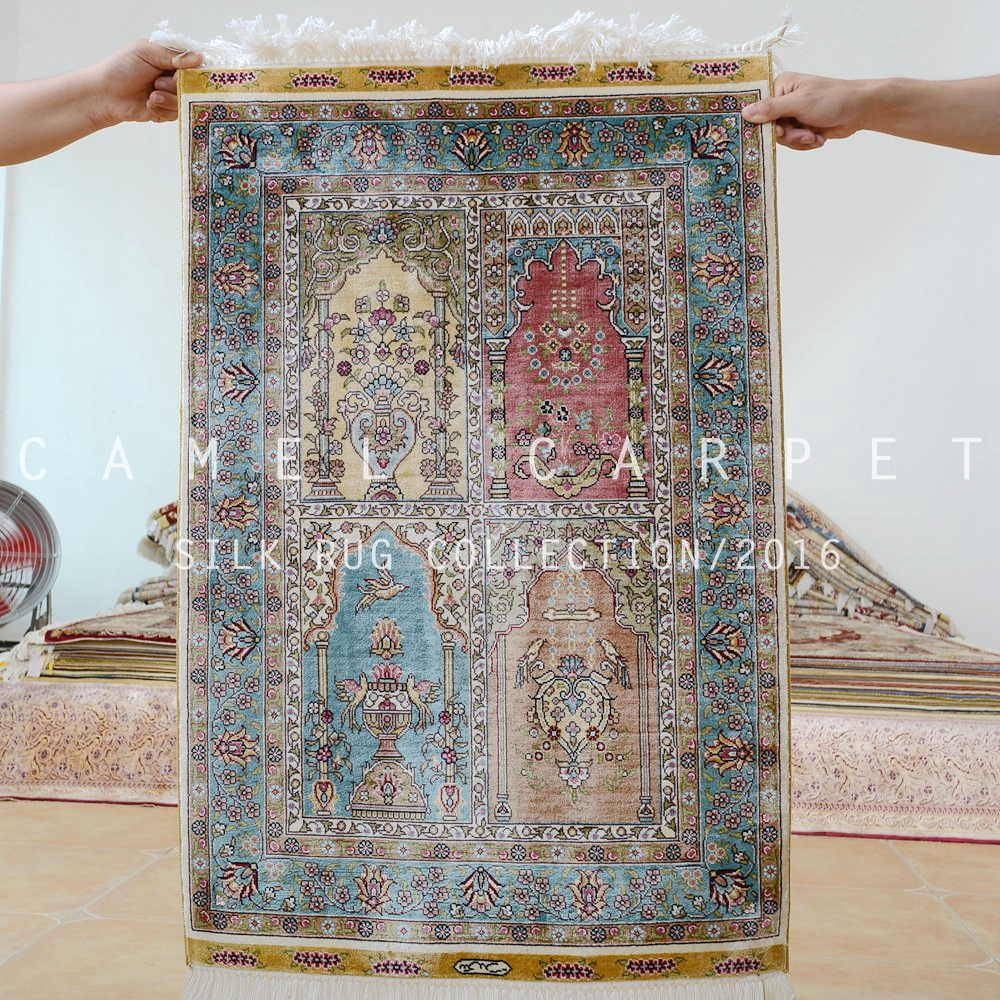Persian Silk Ghom Rugs Carpets Hand Knotted Chinese For