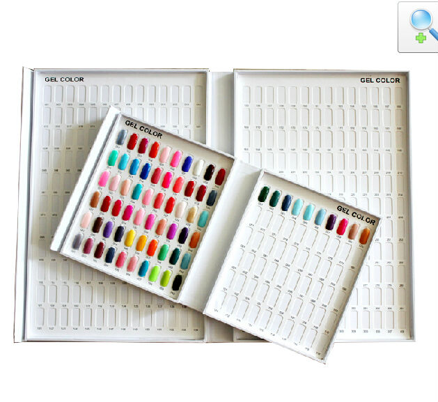 Factory Wholesale White Nail Polish Color Card Box 120 Tips Nail Gel ...