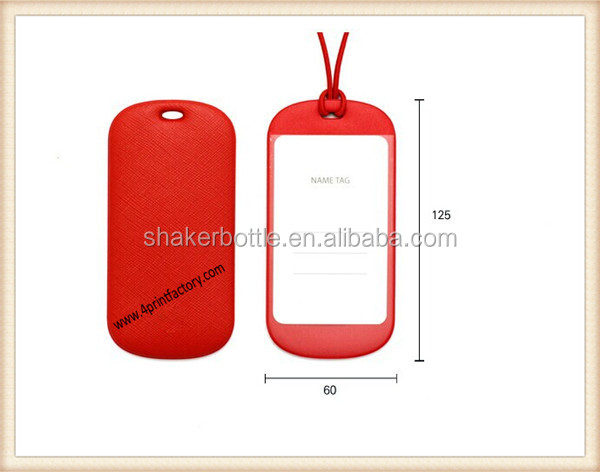 Customized Colorful PVC Luggage Tag in Manufacturer Price For Promotion