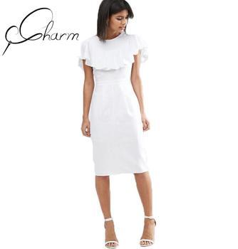 Vestido de tubo blanco