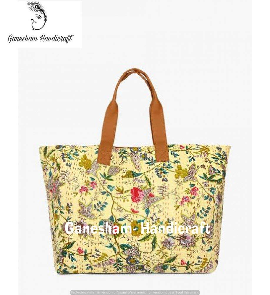 Get Quotations · Indian Handmade Bohemian Beach Bags Hippe Top-Handle  Cotton Handbag Boho Hobo Tote Bag Simple 8da1c28addd62