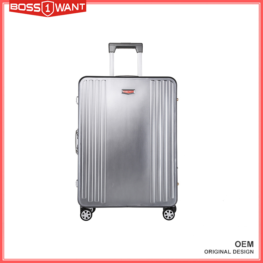 Dongguan Manufacturer New Design Products aluminum metal suitcase with Aluminum Trolley and 4 Wheels