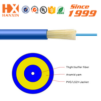 indoor Mini diameter OFNR om3 PVC Jacket blue fiber optic cable