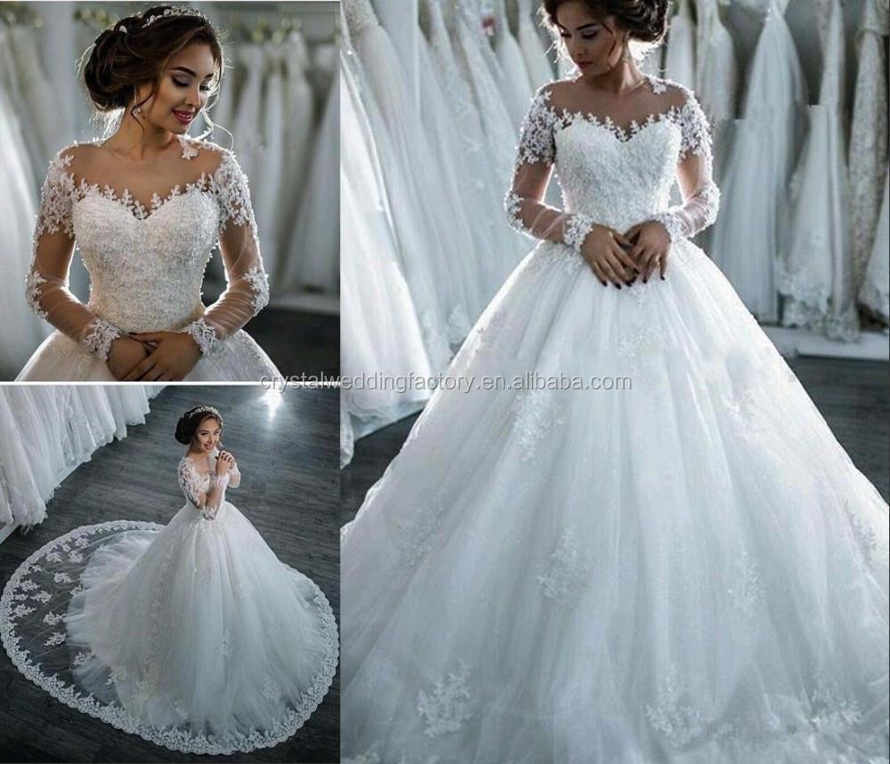 New Arrival Lace Wedding Dress 2017 Romantic Robe De Mariage Vestido ...