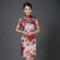 New Design Qipao Lady Traditional Chinese Silk Cheongsam