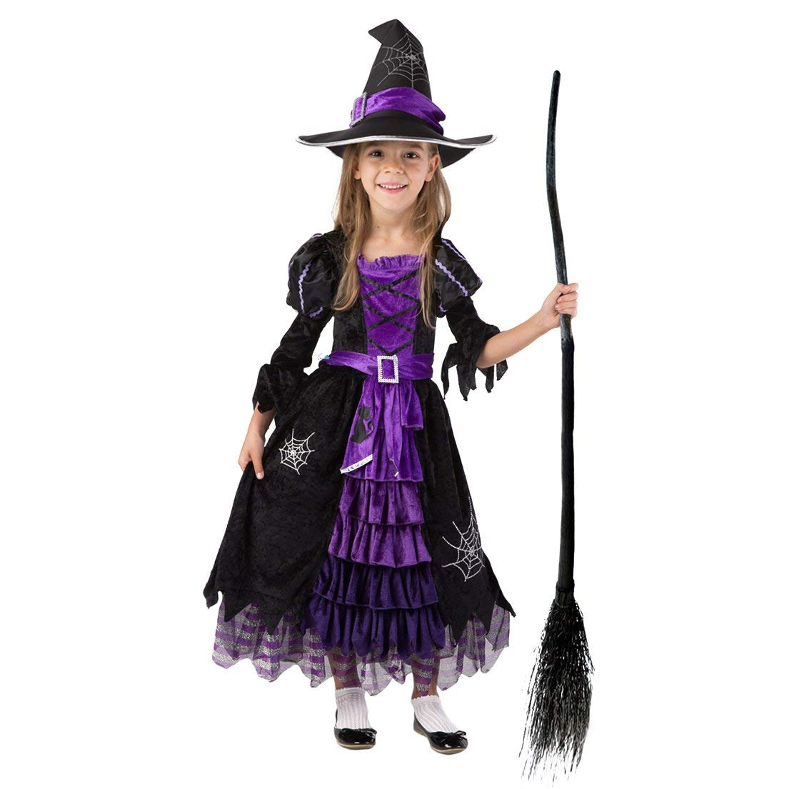 45df6523e Get Quotations · Spooktacular Creations Fairytale Witch Cute Witch Costume  Deluxe Set for Girls (S 5-7