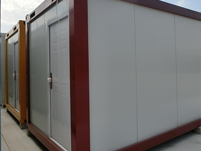 Flat pack container homes with solar energy equipment