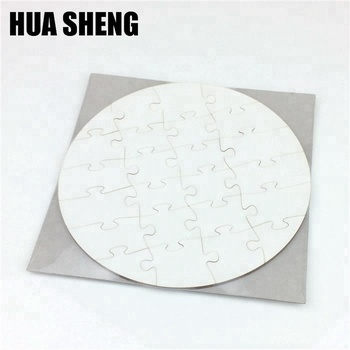 wholesale cheap price sublimation MDF blank ROUND PUZZLE 17X17CM