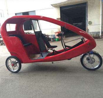3 Wheel Electric Tricycle With Pedal Passenger Pedicab Velo Taxi
