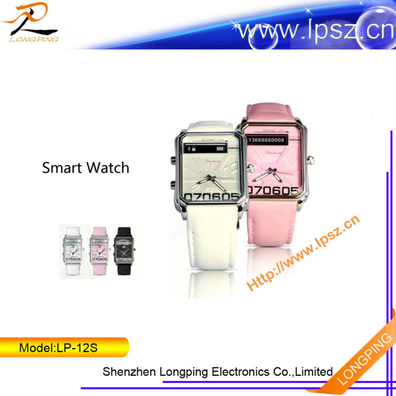 2014 Alibaba shenzhen bluetooth cell watch phone for