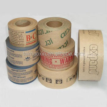 custom printed kraft water activated tape for packing buy kraft
