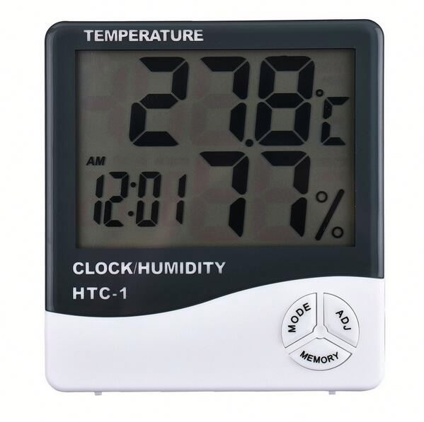 Digital alarm clock thermometer hygrometer h0tQB digital lcd indoor humidity thermometer hygrometer for sale