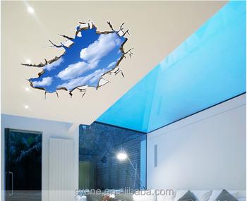 Syene creatieve muur blauwe hemel witte wolken d muurstickers