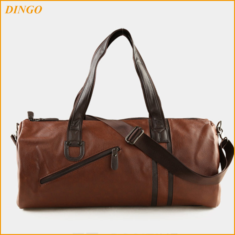 Unisex Luggage Duffle Bags Genuine Leather Travel Bag
