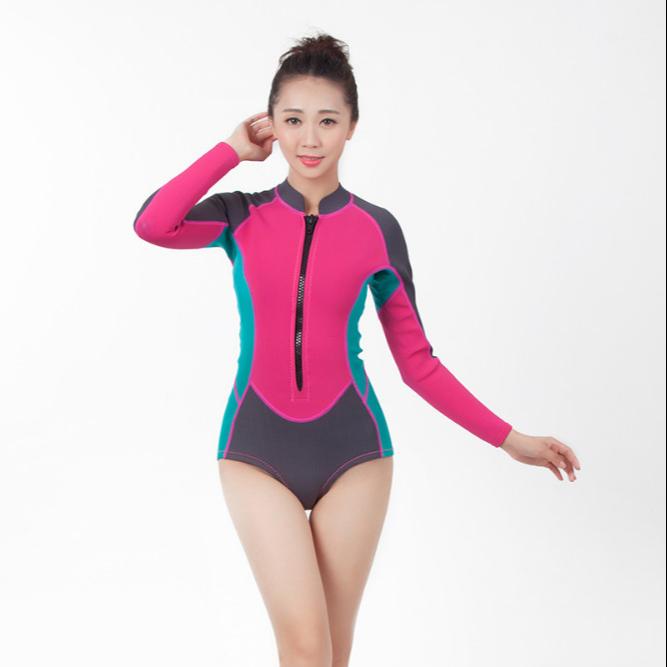 Water sportswear neoprene wet suit for girls